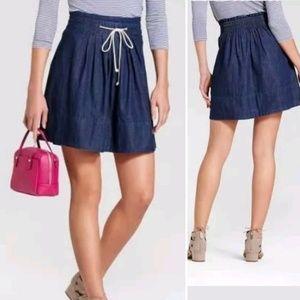 Merona Denim/Jean Style Skirt